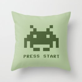 Space invader monochrome Throw Pillow
