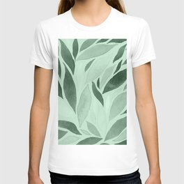 Abstract Watercolour Leaf X T-shirt