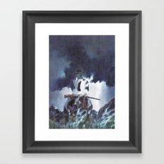 The Unknown Rider Hard Rain Framed Art Print