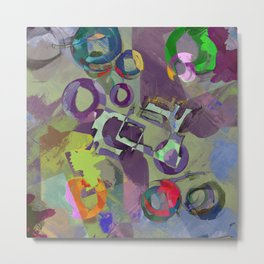 Living In A Purple Dream - Abstract, eclectic, random, purple. lilac, pastel artwork Metal Print