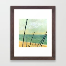 Branches on the Beach Framed Art Print