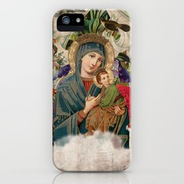 Saints Collection -- Madonna And Child iPhone Case