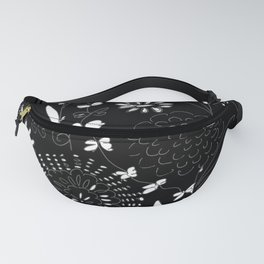 black toile by cocoblue Fanny Pack