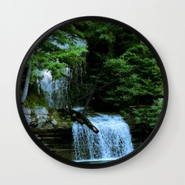 Over By the Waterfall Wall Clock