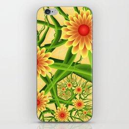 Summer Feelings, Modern Fantasy Flowers iPhone Skin