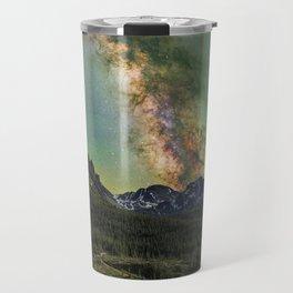 Milky way over nokhu crags Travel Mug