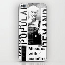 Muscles on Demand (B&W) iPhone Skin