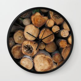 New Sawn Logs Wall Clock