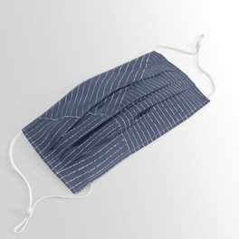 Lines (Navy) Face Mask