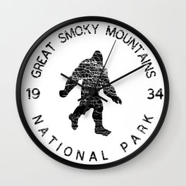 Great Smoky Mountains National Park Sasquatch Wall Clock