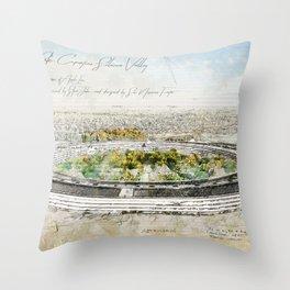 Apple Park, Silicon Valley Throw Pillow