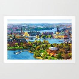 stockholm sweden Art Print
