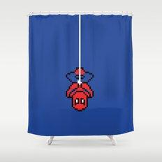 Spider-Pixel Shower Curtain