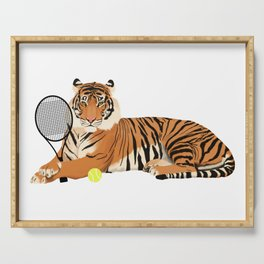 Tennis Tiger Serving Tray