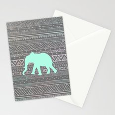 Mint Elephant  Stationery Cards