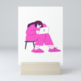 "signing off emails with ""best"" Mini Art Print"