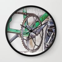 pushing daisies Wall Clocks featuring Pushing It by Paul & Fe Photography