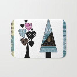 Finnish winter pattern. Scandinavia. Bath Mat