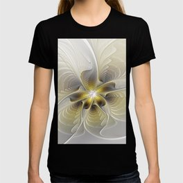 Gold And Silver, Abstract Flower Fractal T-shirt