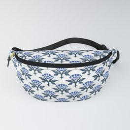 Ajrak Woodblock Floral Print in Blue Fanny Pack
