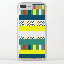 Festive happy stripes Clear iPhone Case