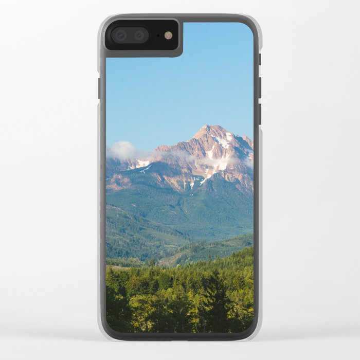 Sunny Mountain Summer Clear iPhone Case