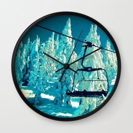 Northwest Chair Mt. Bachelor Wall Clock