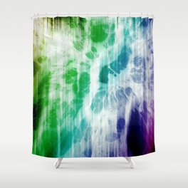 Boho Chic Blue Tie-Dye Shower Curtain