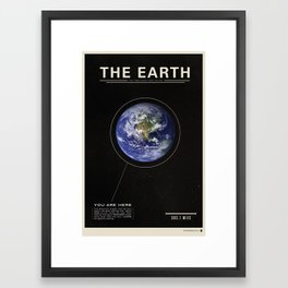 THE EARTH - Space   Time   Science Framed Art Print