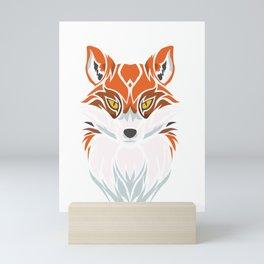 Tribal Fox - Wild Animal Art - Exotic Animals Mini Art Print