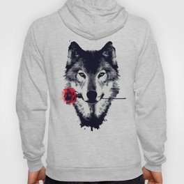The Wolf With a Rose & Mountains Hoody