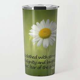 She is Clothed With Strength Travel Mug