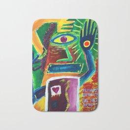 """Infinitely Wrong I Bet"" Surrealist Expressionism Artwork Bath Mat"