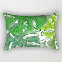 PALM LEAF B0UNTY GREEN AND WHITE Rectangular Pillow