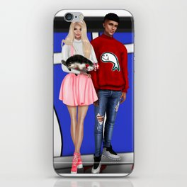 Teenage Sally and Nick with Cat in the Hat! iPhone Skin