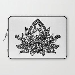 Yin Yang Lotus - Black Laptop Sleeve