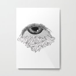 Eye Don't Care Metal Print
