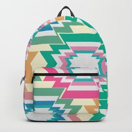 Multicolored native shapes Backpack