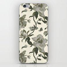 Black Magnolia Pattern iPhone & iPod Skin