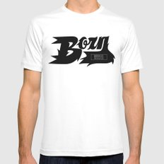 Flaming Born Mens Fitted Tee White MEDIUM