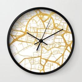 LEEDS ENGLAND CITY STREET MAP ART Wall Clock