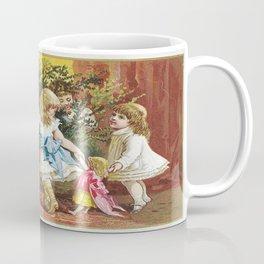 Vintage Christmas Card 1880 Julekort Coffee Mug