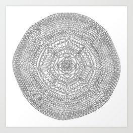 Envisioning on White Background Art Print