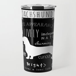 Dachshund black and white Travel Mug