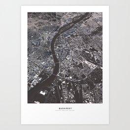 Budapest - city map Art Print