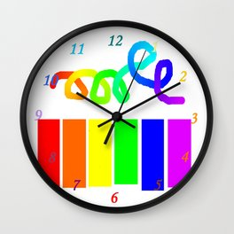 Rainbow on white Wall Clock