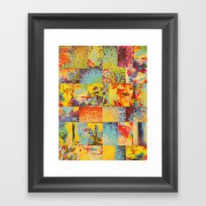 COLORFUL INDECISION 2 - Vibrant Wow Beautiful Abstract Acrylic Painting Collection Nature Rainbow Framed Art Print