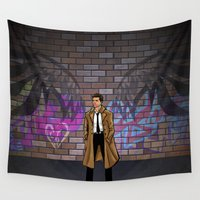 castiel Wall Tapestries featuring CASTIEL by Chris Thompson, ThompsonArts.com
