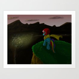 Hope Rides 20% More Alone Art Print