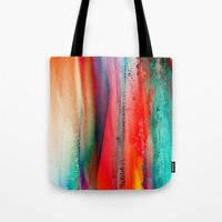 ice Tote Bags featuring Ice Curtain by Klara Acel